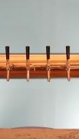 Metall-Schanksäule in Kupfer